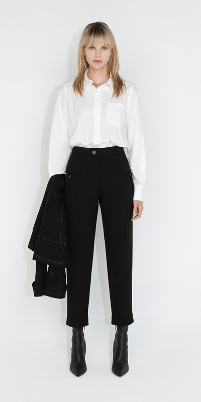 Tops and Shirts | Classic Cotton Shirt