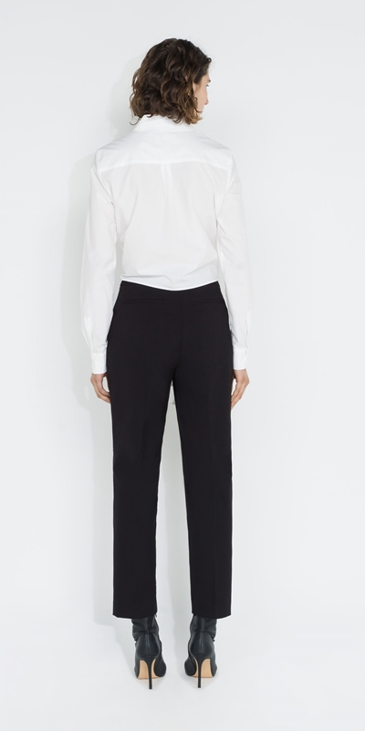 Tops and Shirts | Cropped Tie Front Shirt