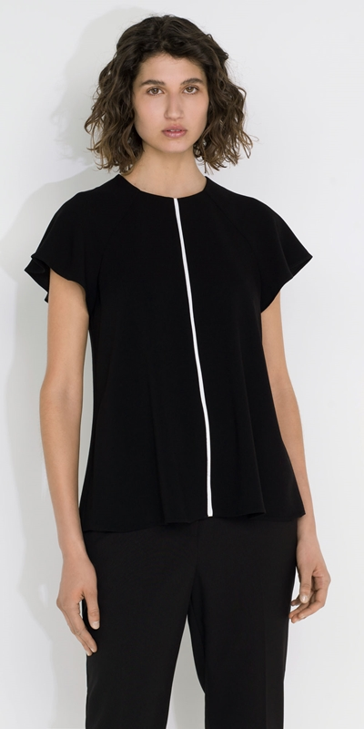 Tops and Shirts  | Fluted Sleeve Top