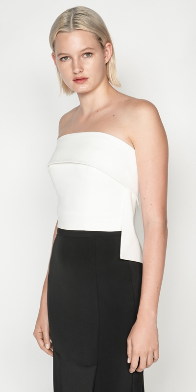 Tops and Shirts | Organic Cotton Strapless Bustier