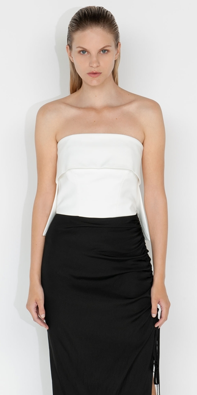 S21 Campaign  | Organic Cotton Strapless Bustier