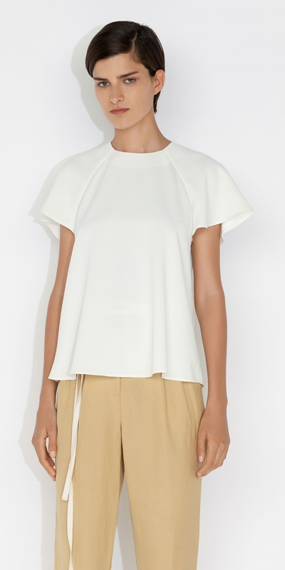 New Arrivals | Fluted Sleeve Top