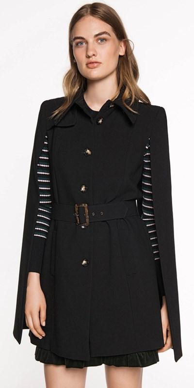 Sale  | Cotton Belted Cape Jacket