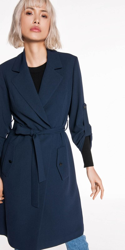 Jackets  | Crepe Trench Jacket
