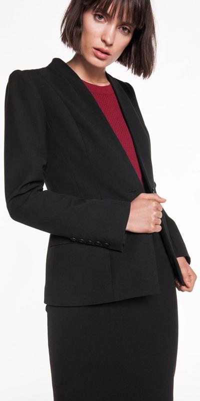 Sale | Twill Collarless Jacket