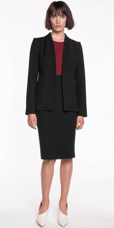 Wear to Work  | Twill Collarless Jacket