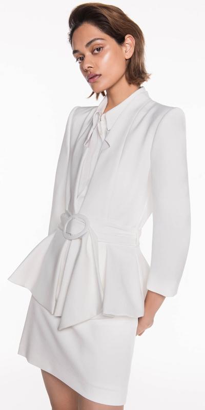 Sale  | Belted Peplum Jacket