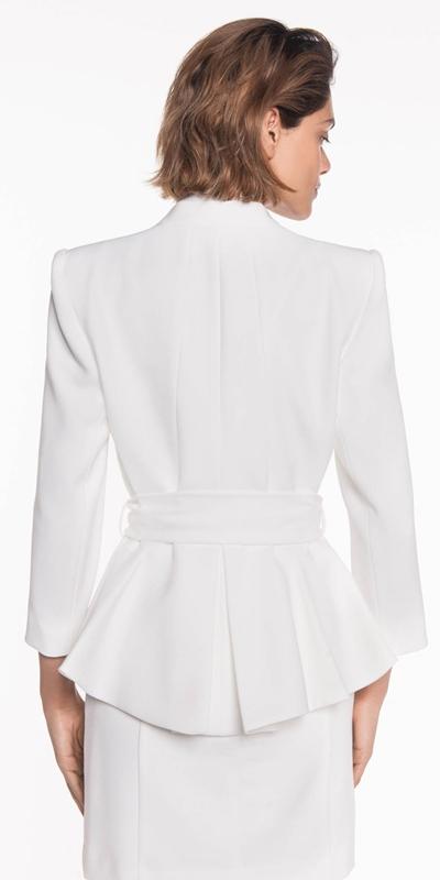 Jackets | Belted Peplum Jacket
