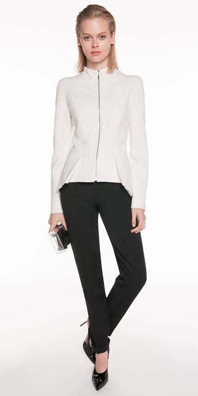 Jackets  | Sculpted Zip Front Jacket