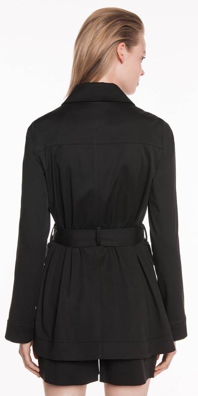 Jackets   Cotton Twill Belted Jacket