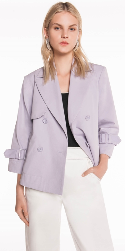 Dresses  | Cotton Twill Double Breasted Jacket