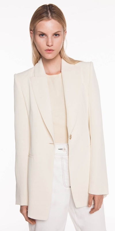 Sale  | Soft Lemon Crepe Blazer