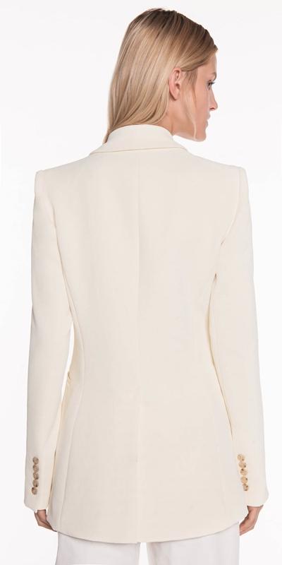 Jackets | Soft Lemon Crepe Blazer