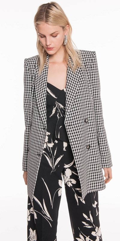 Made in Australia  | Gingham Double Breasted Blazer