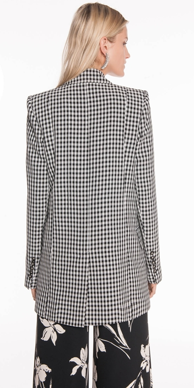Jackets | Gingham Double Breasted Blazer