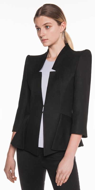 Made in Australia  | Linen Twill Peplum Jacket