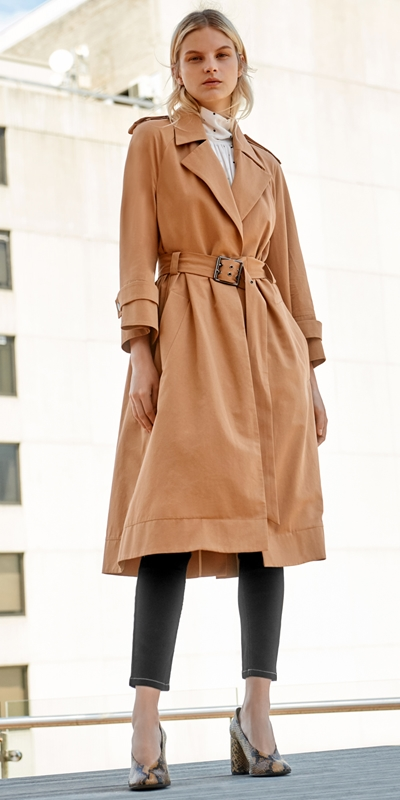 Coats | Cotton Twill Trench Jacket