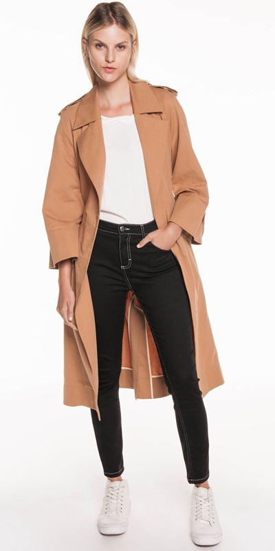 Jackets | Cotton Twill Trench Jacket