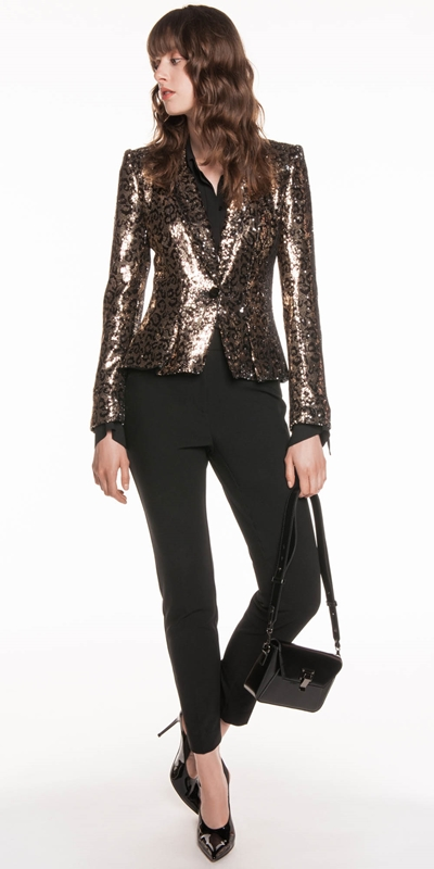 Made in Australia | Leopard Sequin Tuxedo Jacket