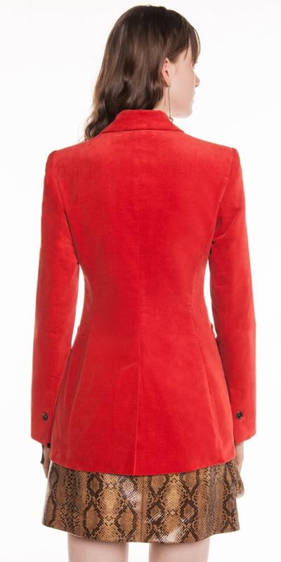 Jackets | Mandarin Velveteen Blazer