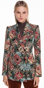 Jackets   Tapestry Jacquard Double Breasted Jacket