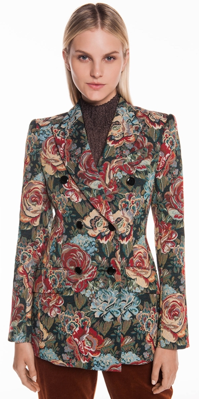 Sale | Tapestry Jacquard Double Breasted Jacket