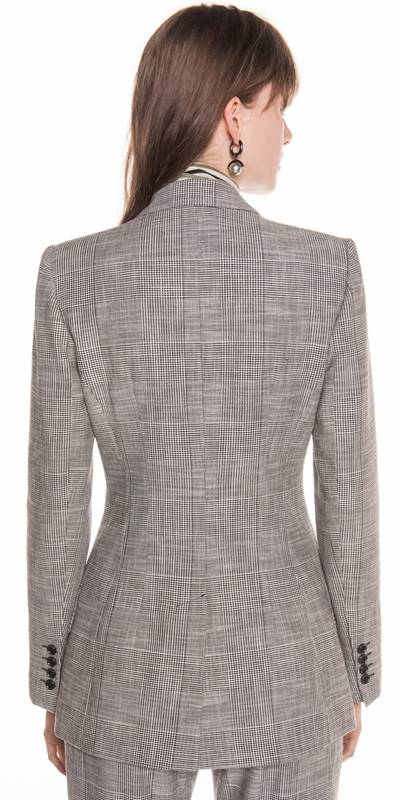 Jackets | Monochrome Check Double Breasted Jacket