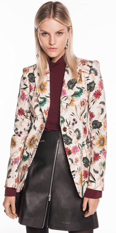 Jackets   Vivid Floral Blazer