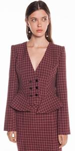Jackets | Mini Tartan Double Breasted Jacket