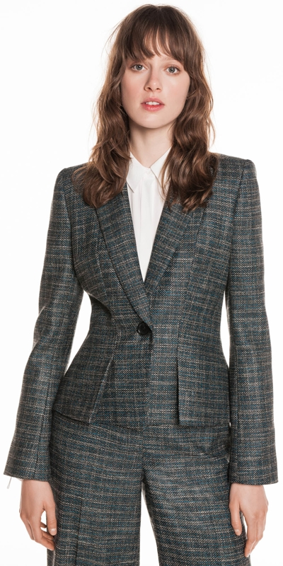 Wear to Work | Tweed Tuxedo Jacket