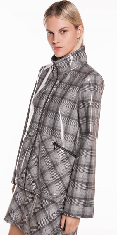 Sale | Coated Check Jacket