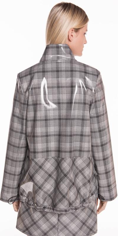 Jackets | Coated Check Jacket