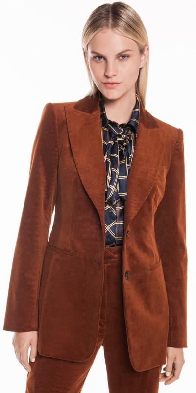 Jackets   Corduroy Fitted Blazer