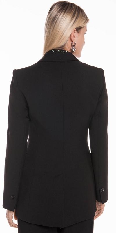 Jackets | Textured Twill Blazer