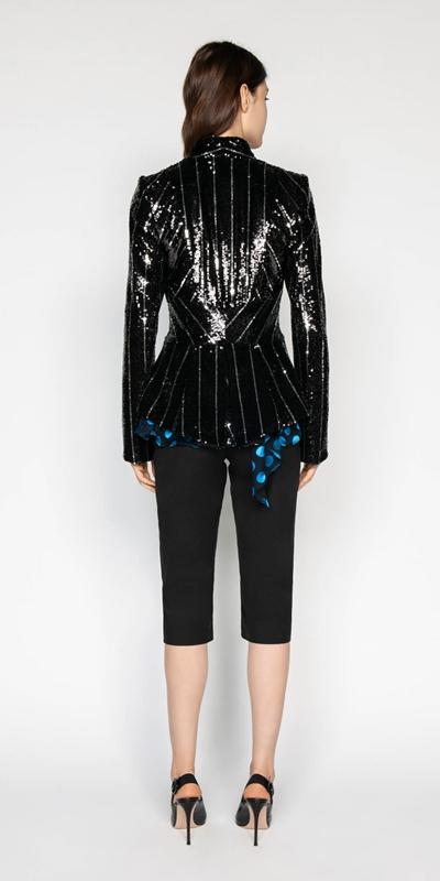 Jackets | Sequin Tuxedo Jacket