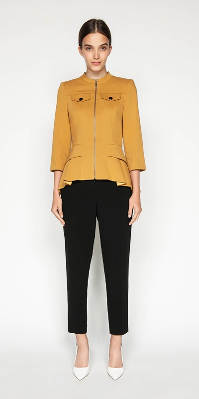 Made in Australia | Zip Front Peplum Jacket