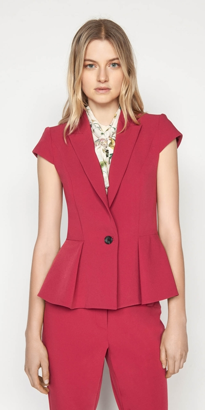 Jackets  | Berry Cap Sleeve Jacket