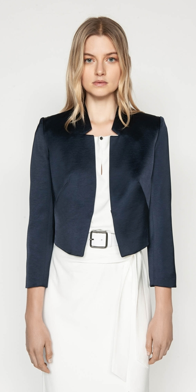 Wear to Work  | Textured Satin Jacket
