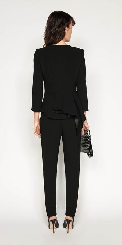 Jackets | Asymmetric Draped Peplum Jacket
