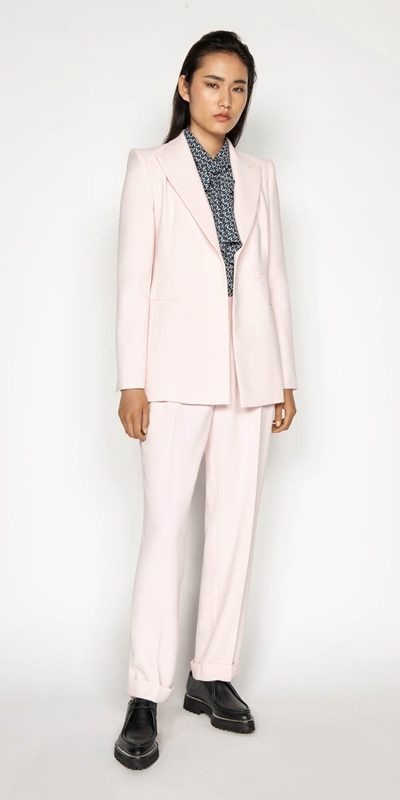 Sale | Pink Double Breasted Blazer