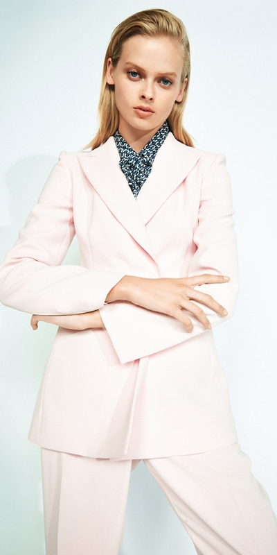 Jackets  | Pink Double Breasted Blazer