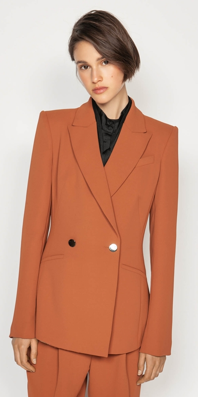 Jackets | Crepe Double Breasted Blazer