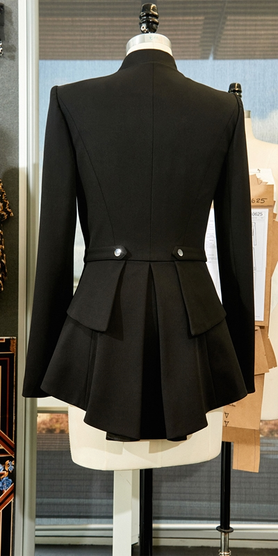 Wear to Work  | Twill Zip Front Peplum Jacket