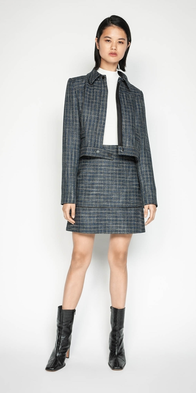 Jackets | Melange Tweed Jacket