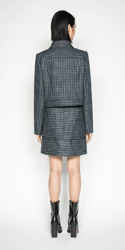 Jackets | Melange Tweed Jacket