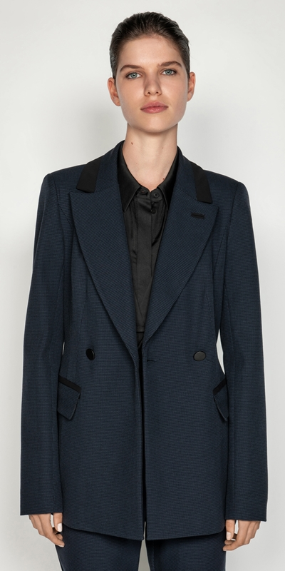 Jackets | Houndstooth Double Breasted Jacket