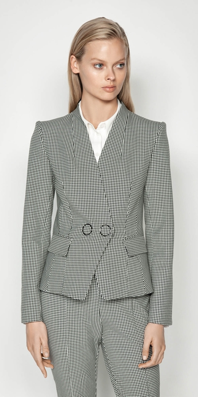 New Arrivals | Gingham Double Breasted Jacket