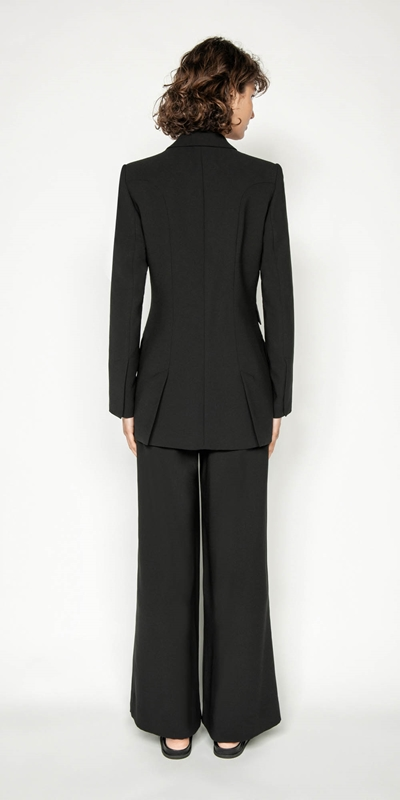 Jackets | Washer Crepe Two Button Blazer