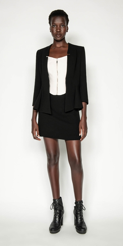 Wear to Work | Crepe Peplum Jacket