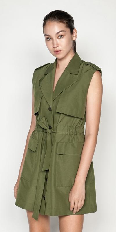 Jackets | Coated Cotton Gilet